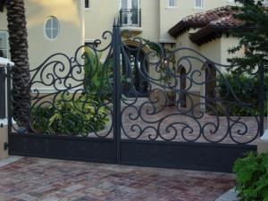 ferforje, bahçe, giriş, kapısı,