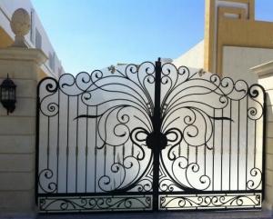 naturel ferforje bahce giriş kapısı, ferforje bahçe kapıları, ferforje imalat, villa bahçe giriş kapısı,