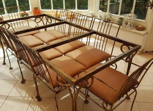 ferforje, masa, sandalye