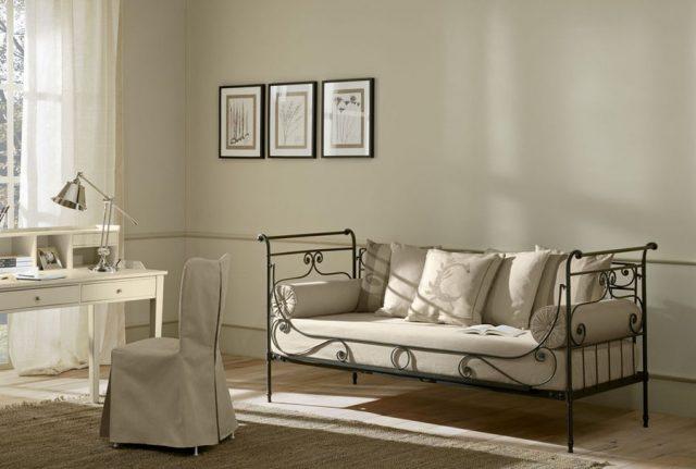 Ferforje oturma sedir divan ferforje naturel for Petit divan lit