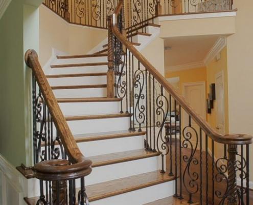 ferforje, merdiven, korkulukları,