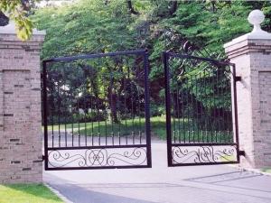 ferforje, bahçe, kapısı,