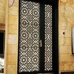 lazer kesim bina giriş kapıları, cnc kesimi, bina giriş kapıları, lazer kesim motifli kapılar,