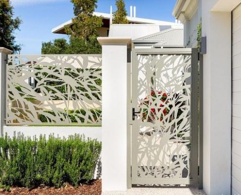 cnc & lazer kesim bahçe kapısı, lazer kesim duvar üstü korkuluk, lazer kesim uygulaması,