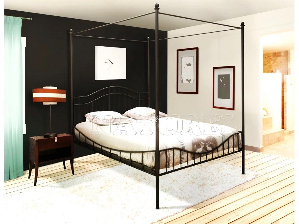 lit baldaquin de Luxe chambre avec meuble noir cuisine ...